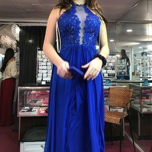 Prom dress blue